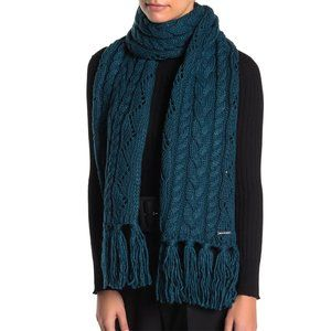 NWT Michael Kors Pointelle Cable Knit Scarf Luxe
